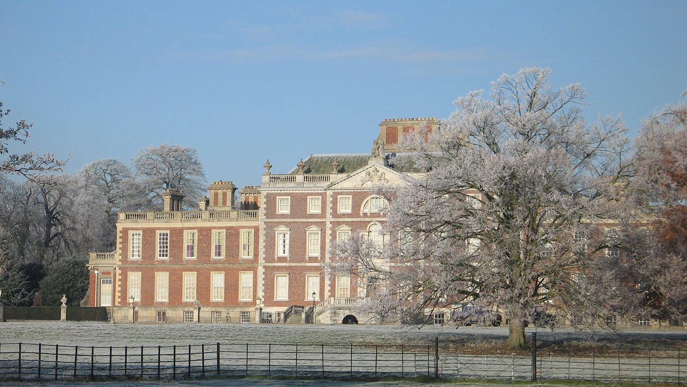 A frosty view of the Hall