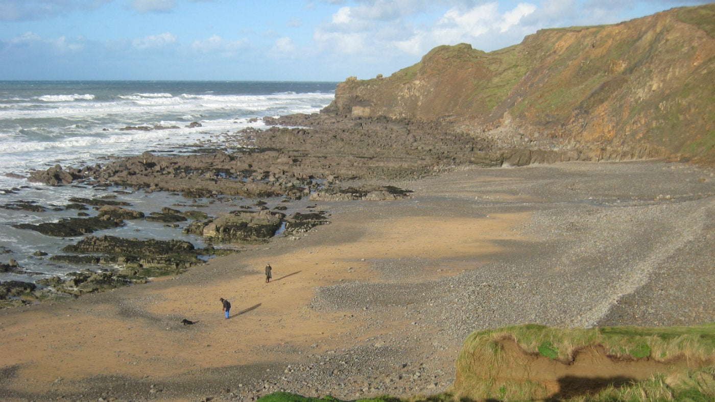 Northcott Mouth beach in North Cornwall