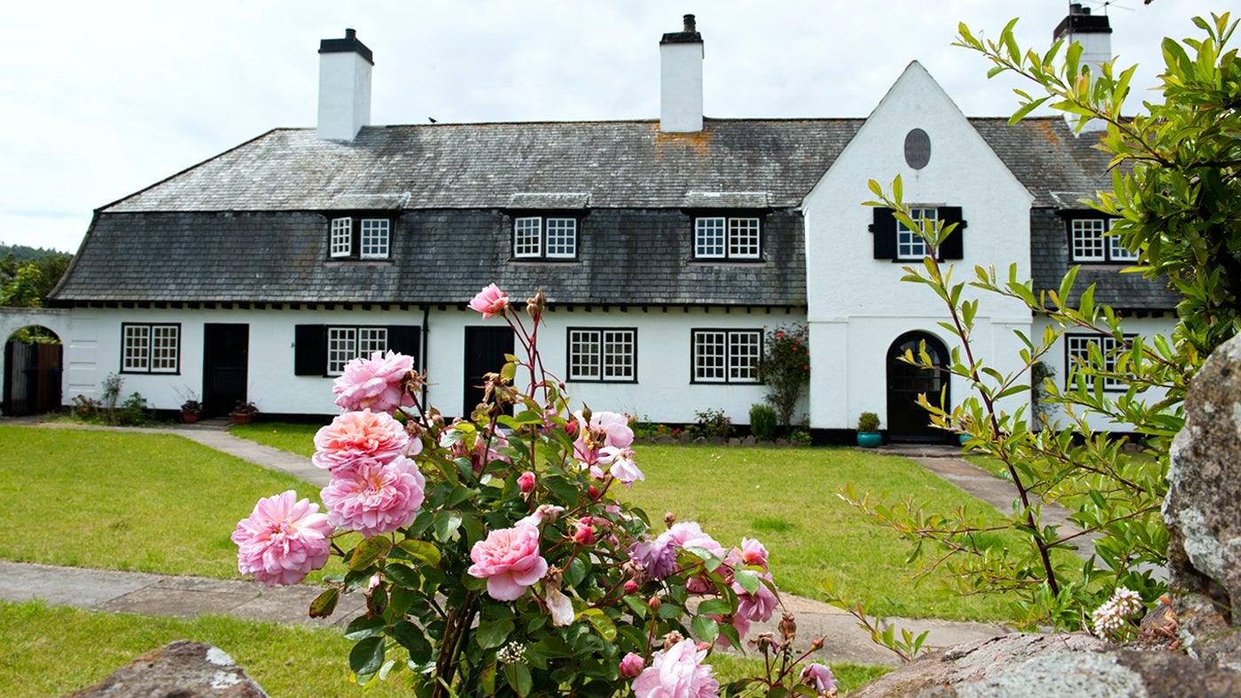 The cottages in The Sqaure in Cushendun.