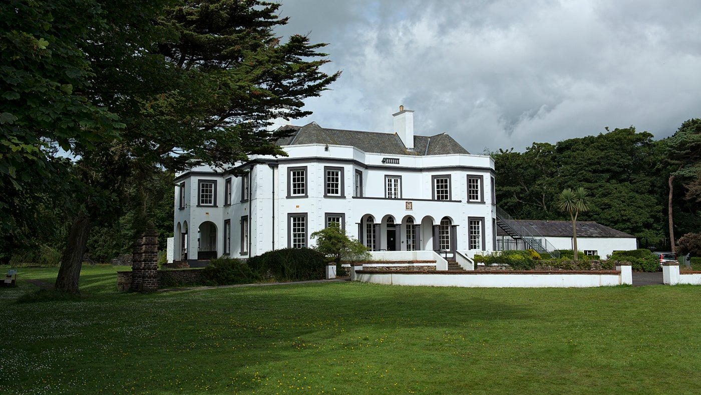 A view of Glenmona House, Cushendun.