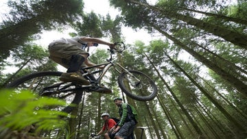 Off-road mountain biking