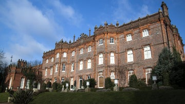 The manor in winter at Hughenden, a National Trust property in Buckinghamshire