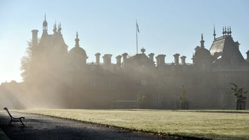 View of the North Front of Waddesdon Manor on an early morning