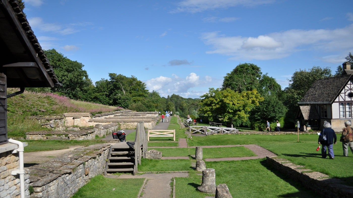 View of North Wing at Chedworth Roman Villa