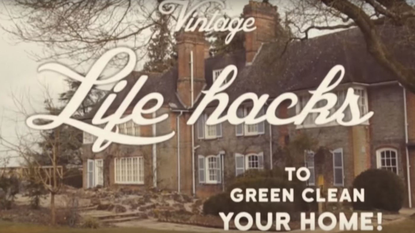 Vintage tips to green clean your home