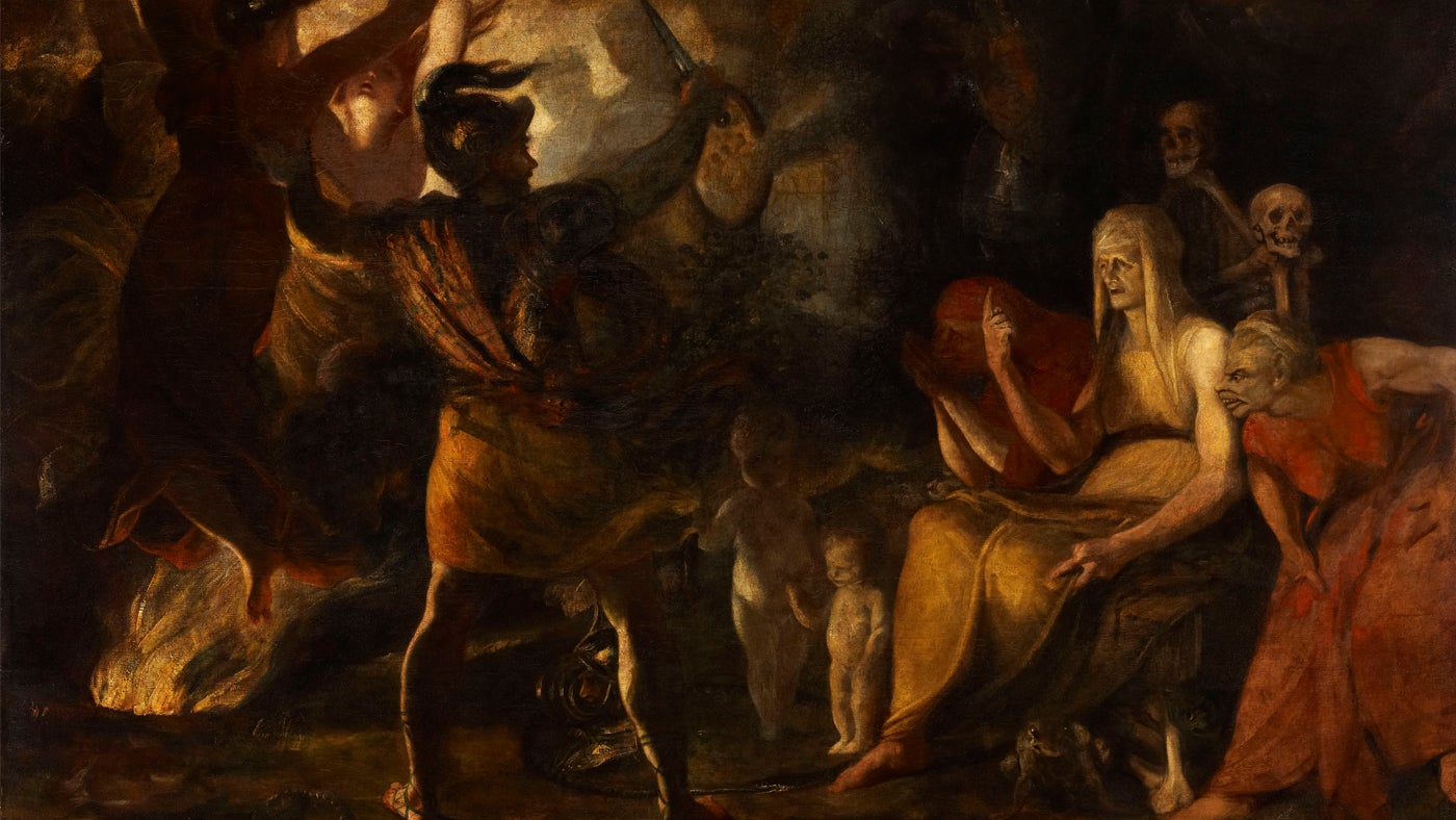 Macbeth and the Witches (from William Shakespeare's 'Macbeth') (unfinished) by Sir Joshua Reynolds PRA (Plympton 1723 - London 1792)