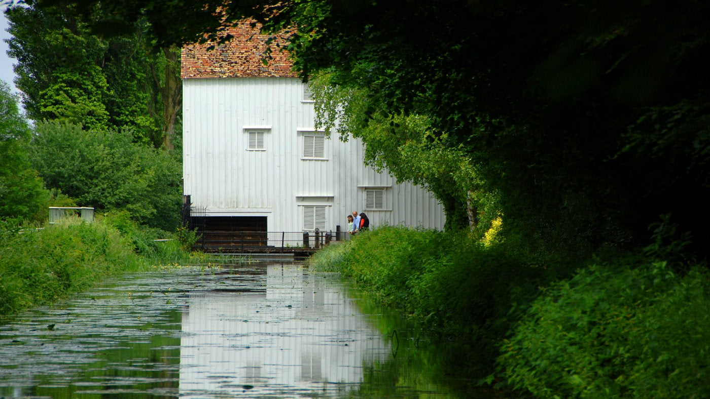 A view of Lode Mill from the banks of Quy Water