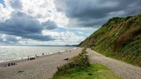 The view down the shingle beach from Branscombe Mouth