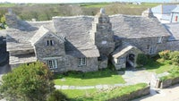An aerial view of Tintagel Old Post Office