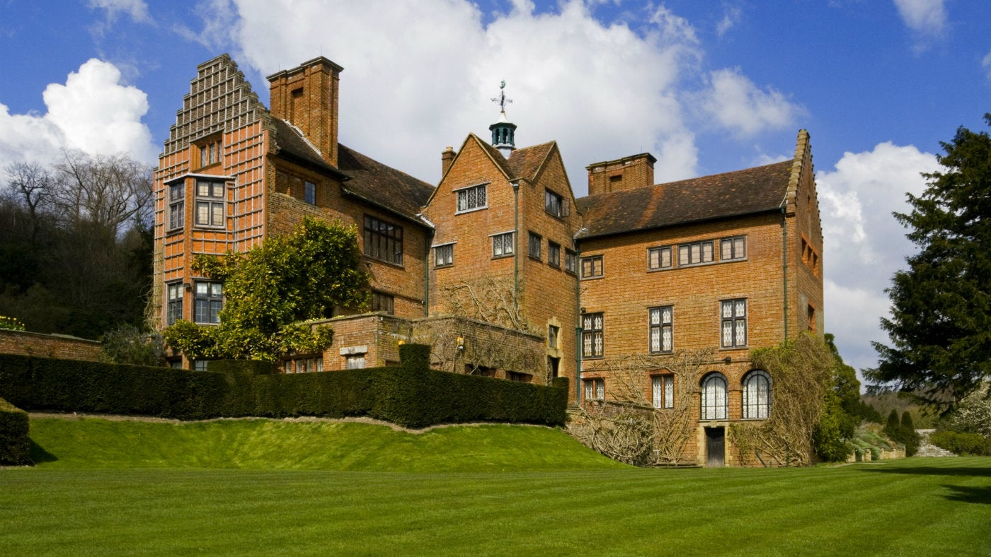 The south front view of the house at Chartwell, a National Trust property in Kent