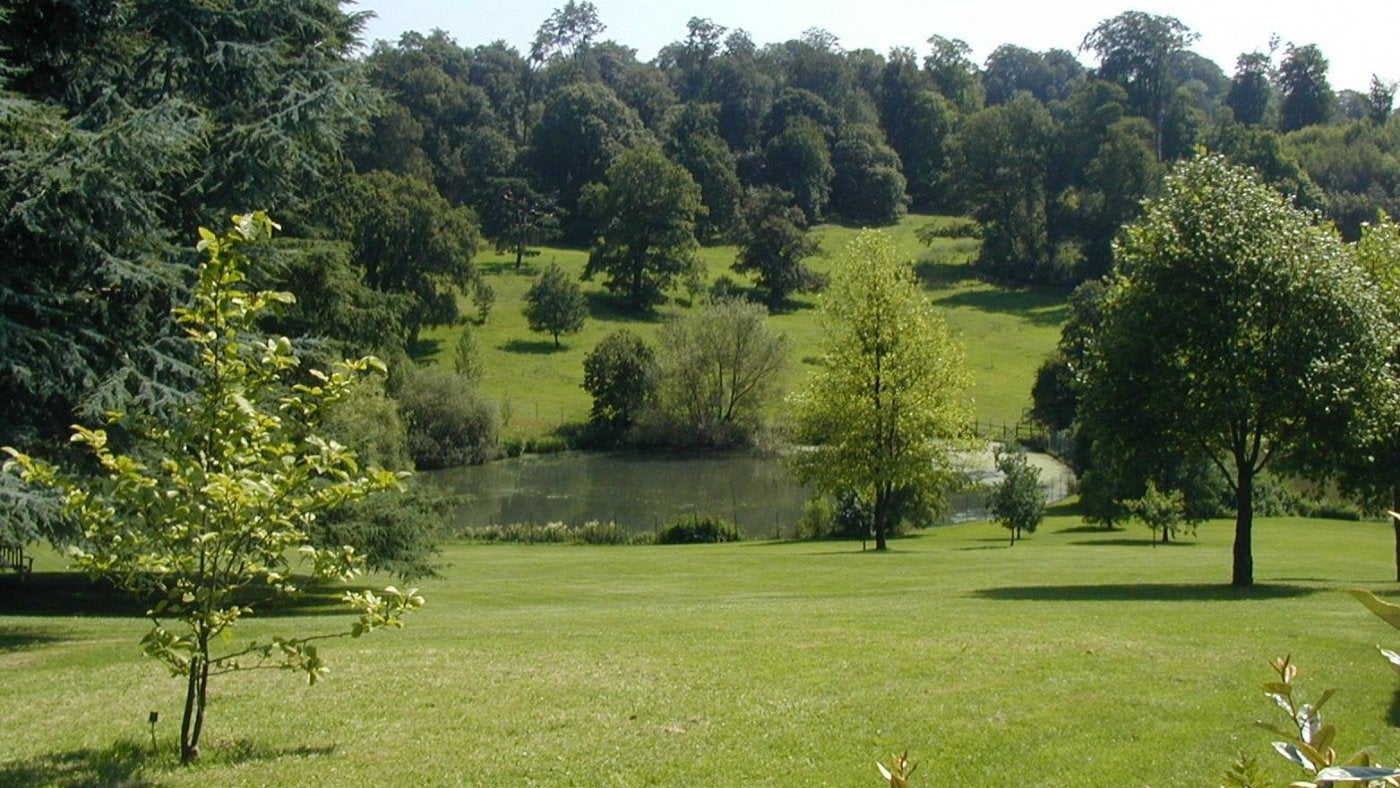 A view across the estate at Chartwell, a national trust property in Kent