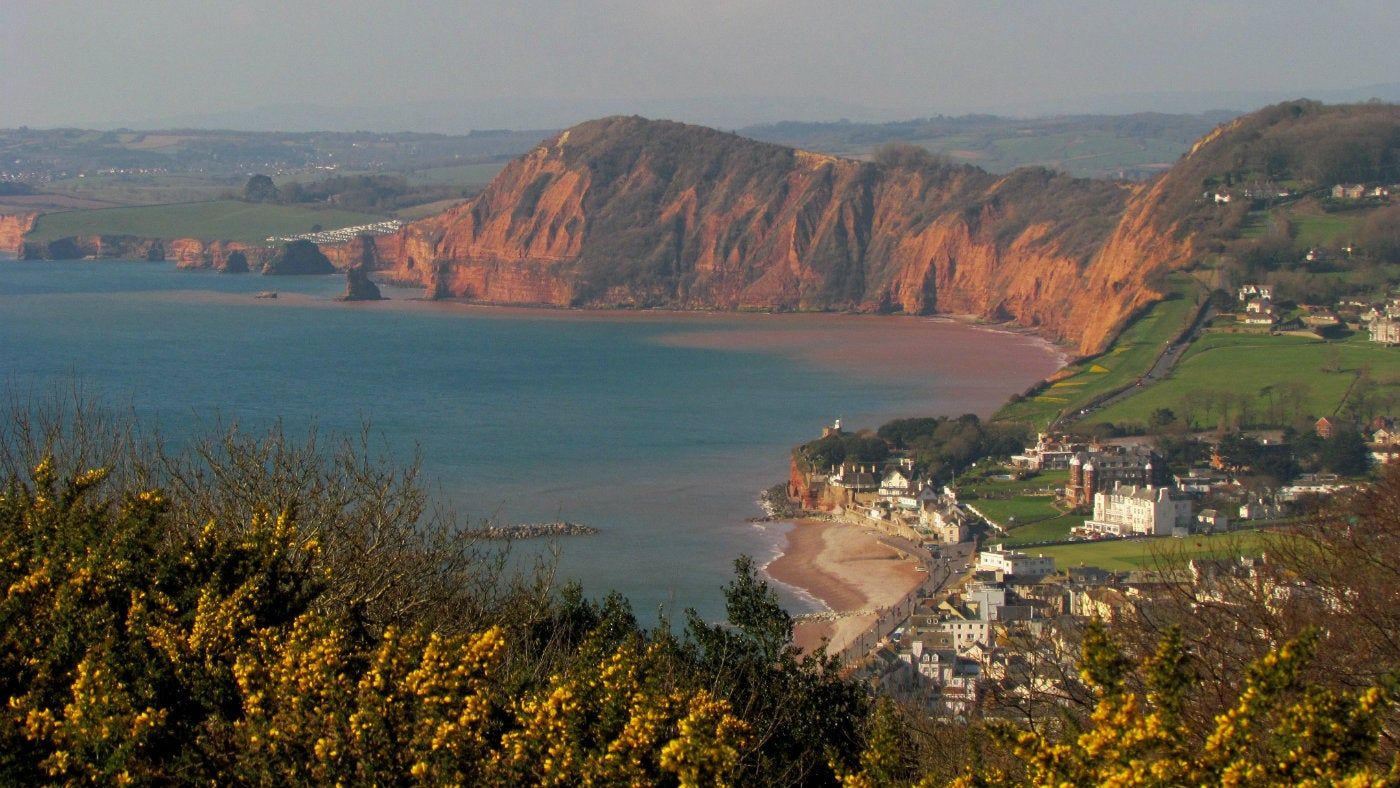 The view of Sidmouth from Salcombe Hill