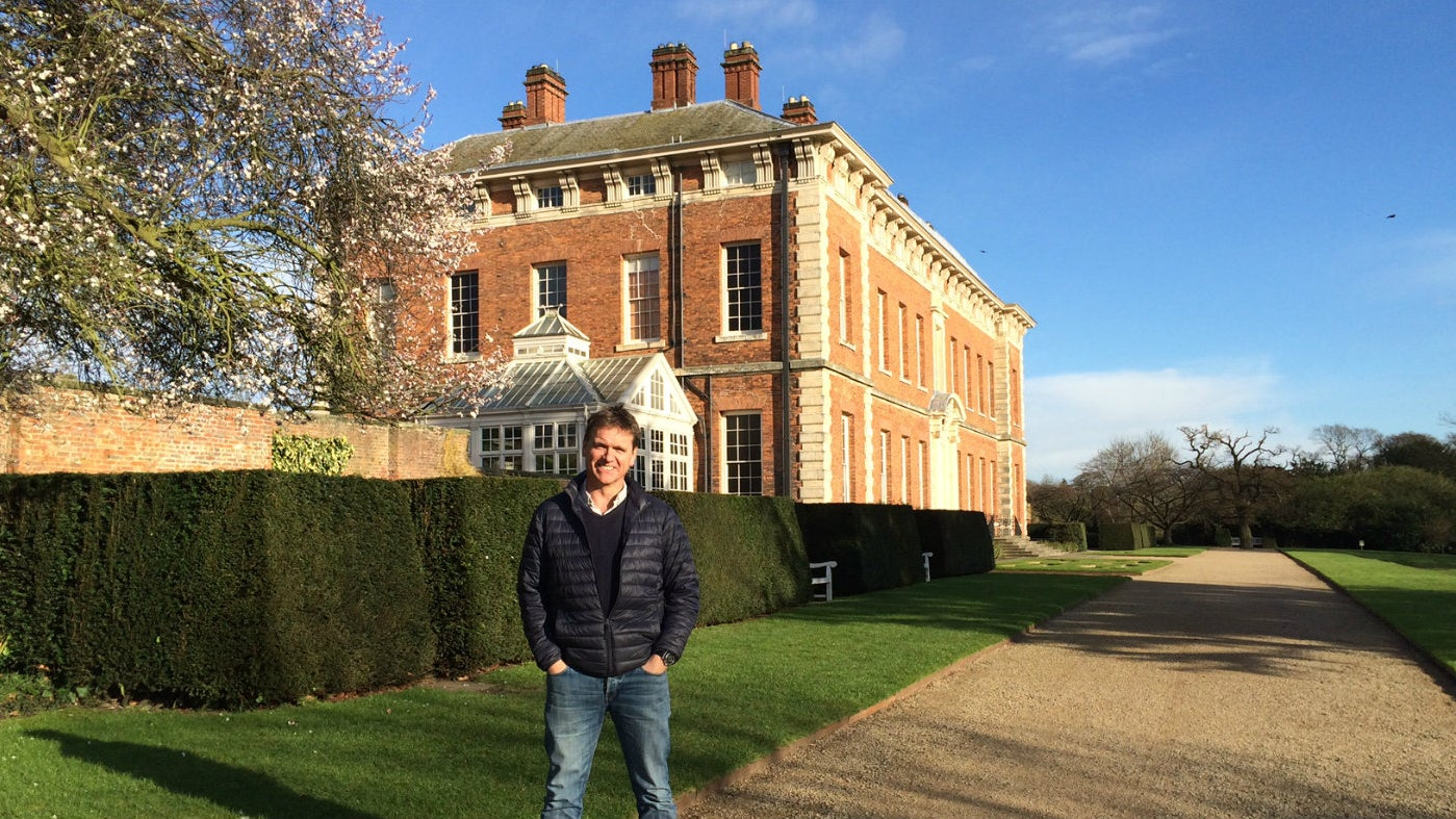 Andy Sturgeon outside in the gardens at Beningbrough Hall