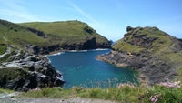 Boscastle harbour in the spring