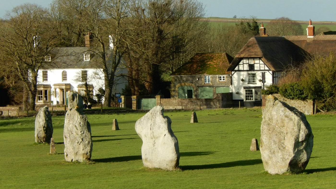 Stone circle and village