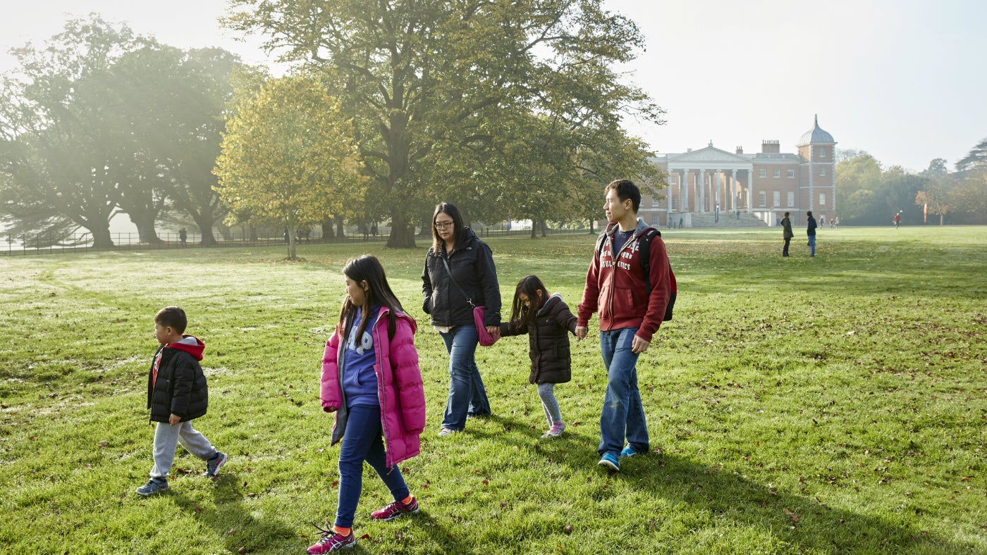 A family walk at Osterley Park and House