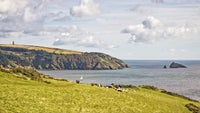 A view from Little Dartmouth across to the Daymark by Froward Point