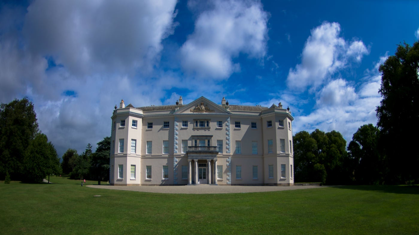 The front of the house at Saltram