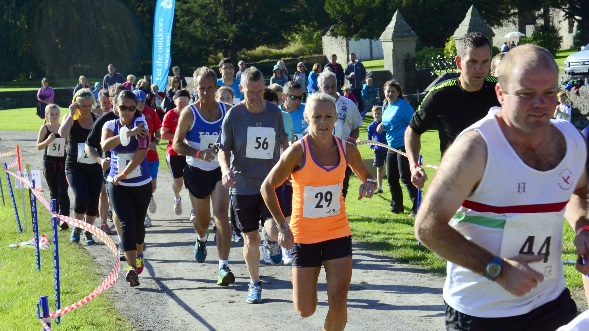 A group of runners at Dinefwr Park