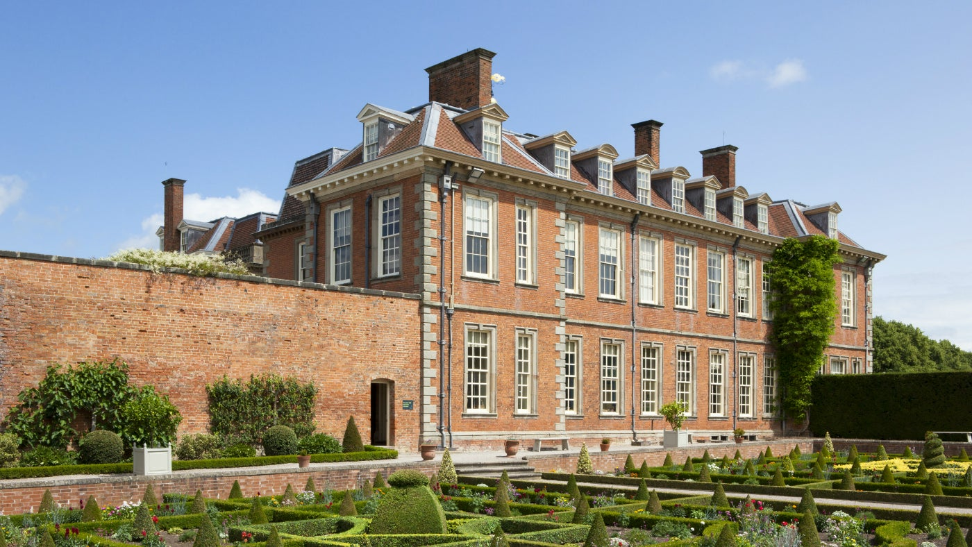 View of Hanbury Hall from the Parterre