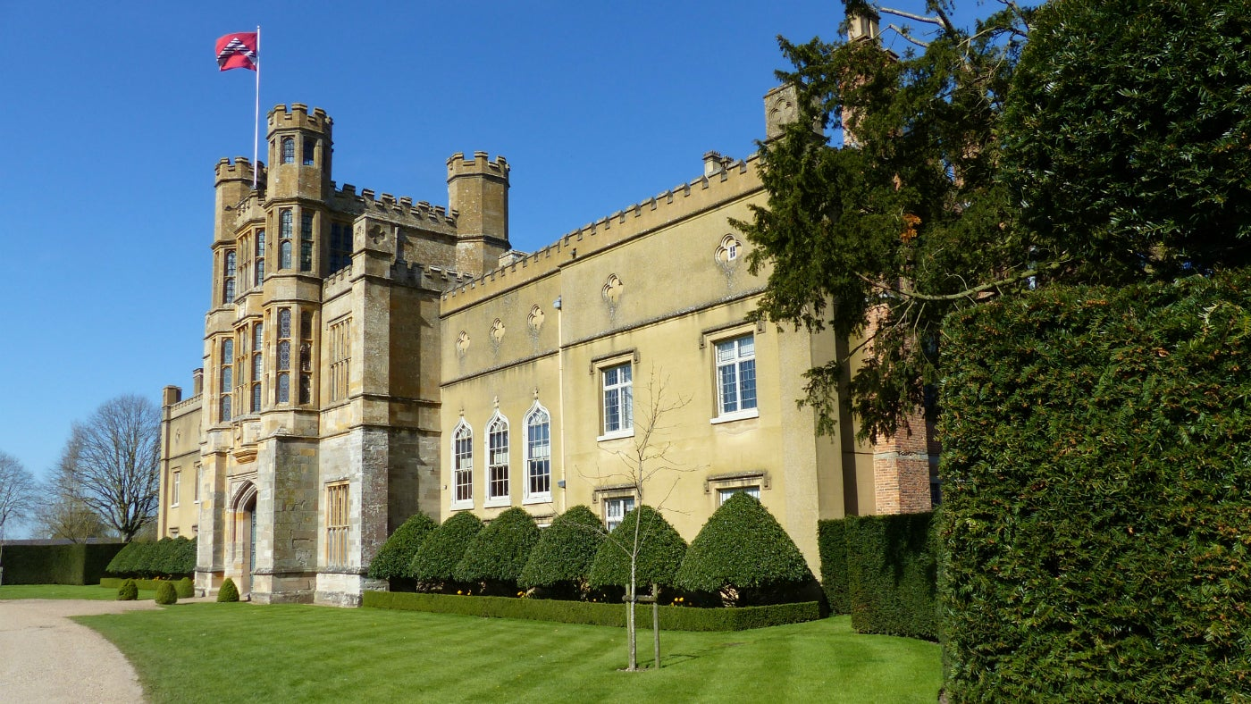Front of Coughton Court in Spring