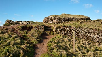 The remains of the Iron Age fort of Bolt Tail are clearly visible on the headland, and can be seen from the coastpath