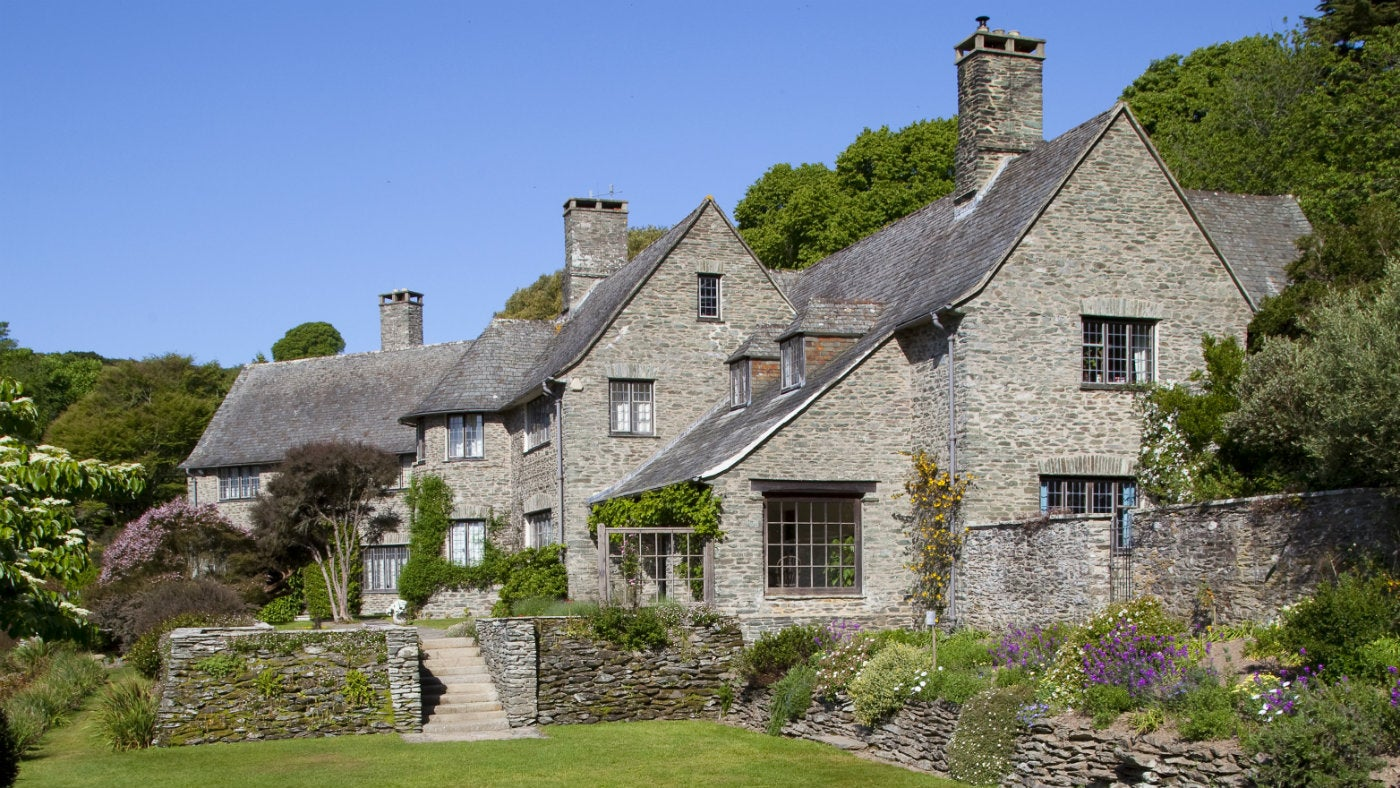 The exterior of Coleton Fishacre house