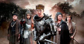 Cast of The Hollow Crown: The War of the Roses in costume