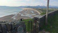 Looking over Harlech beach from Allt y Môr