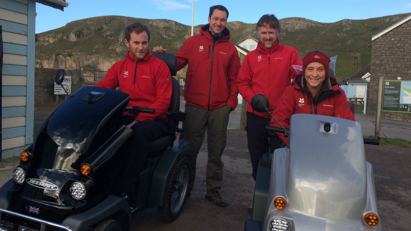 The Ranger team have launched the new tramper mobility scooters at Brean Down