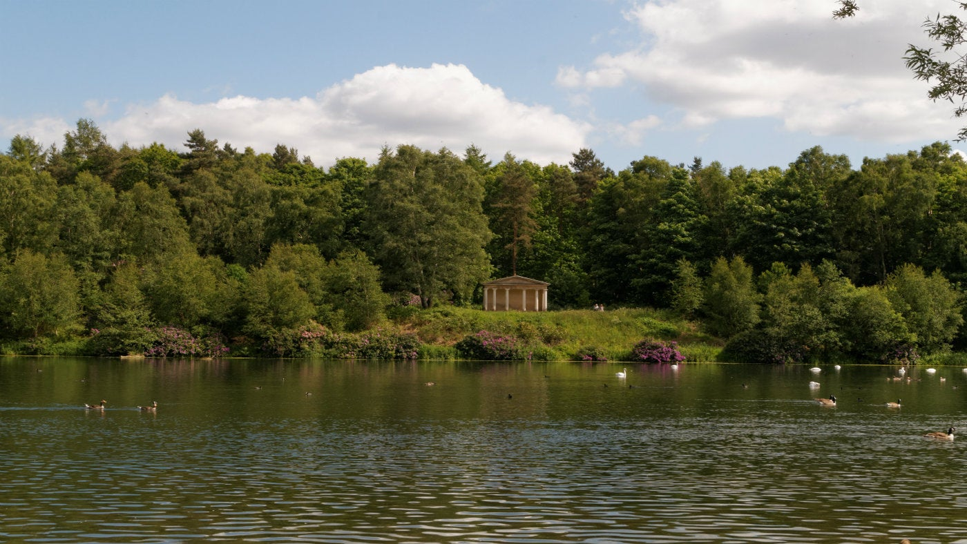 View of the temple from across the lake