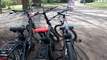 Cycle hire centre at Clumber Park
