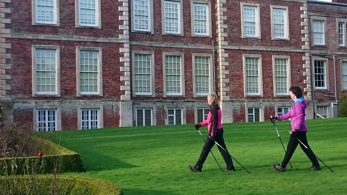 Nordic walkers at Gunby