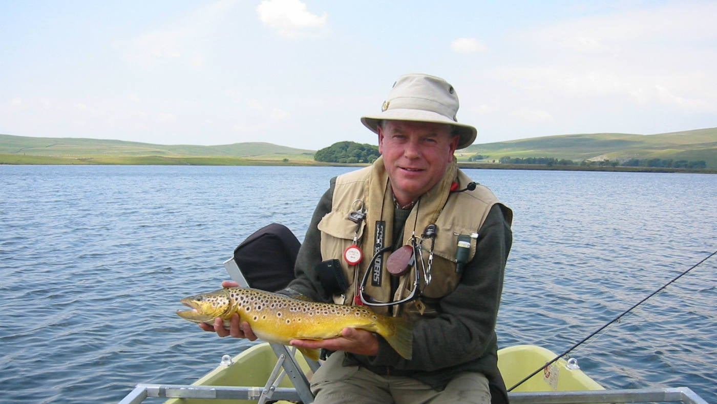 Fly-fishing on Malham Tarn, Yorkshire Dales