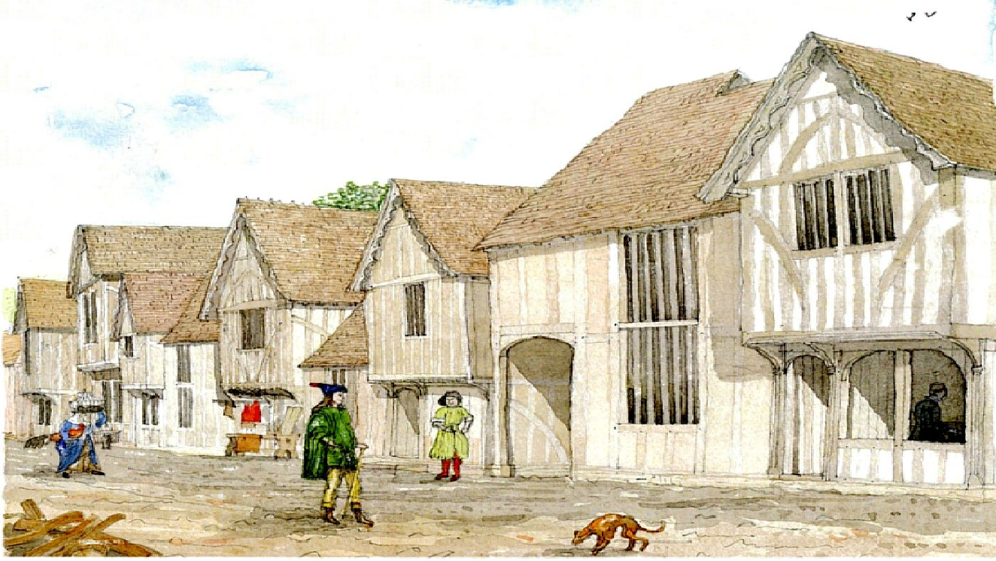 Gallows Street Coggeshall in Tudor times...