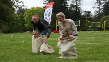 Family sack race
