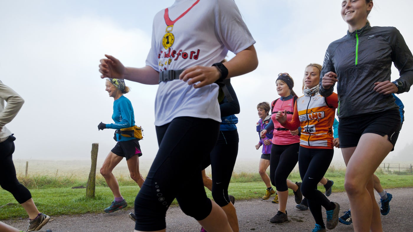 Runners at Longshaw, Burbage and the Eastern Moors, Derbyshire.