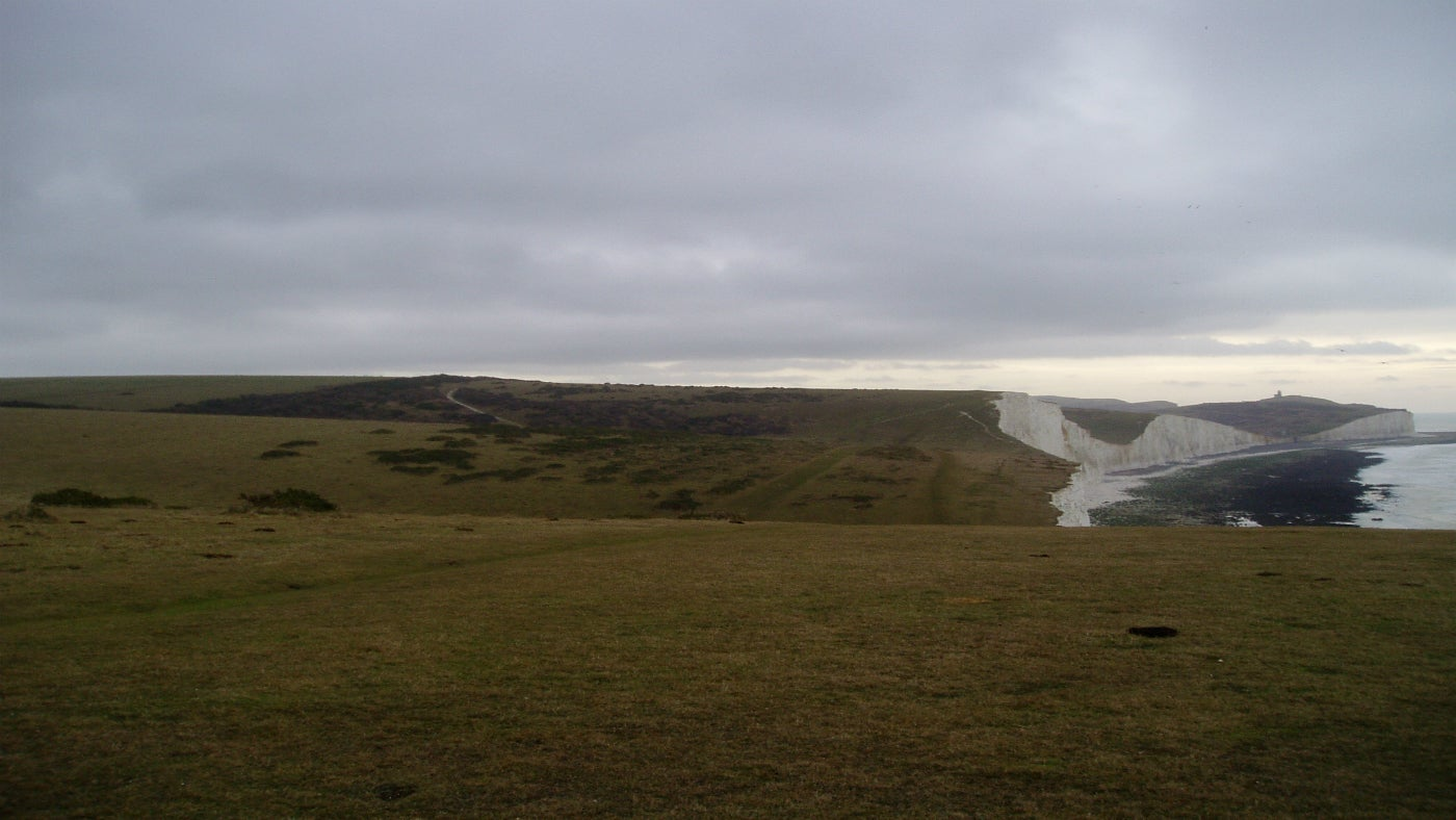 A view from flag staff looking back towards Belle Tout