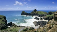 View over Kynance Cove, on the Lizard Peninsula, Cornwall
