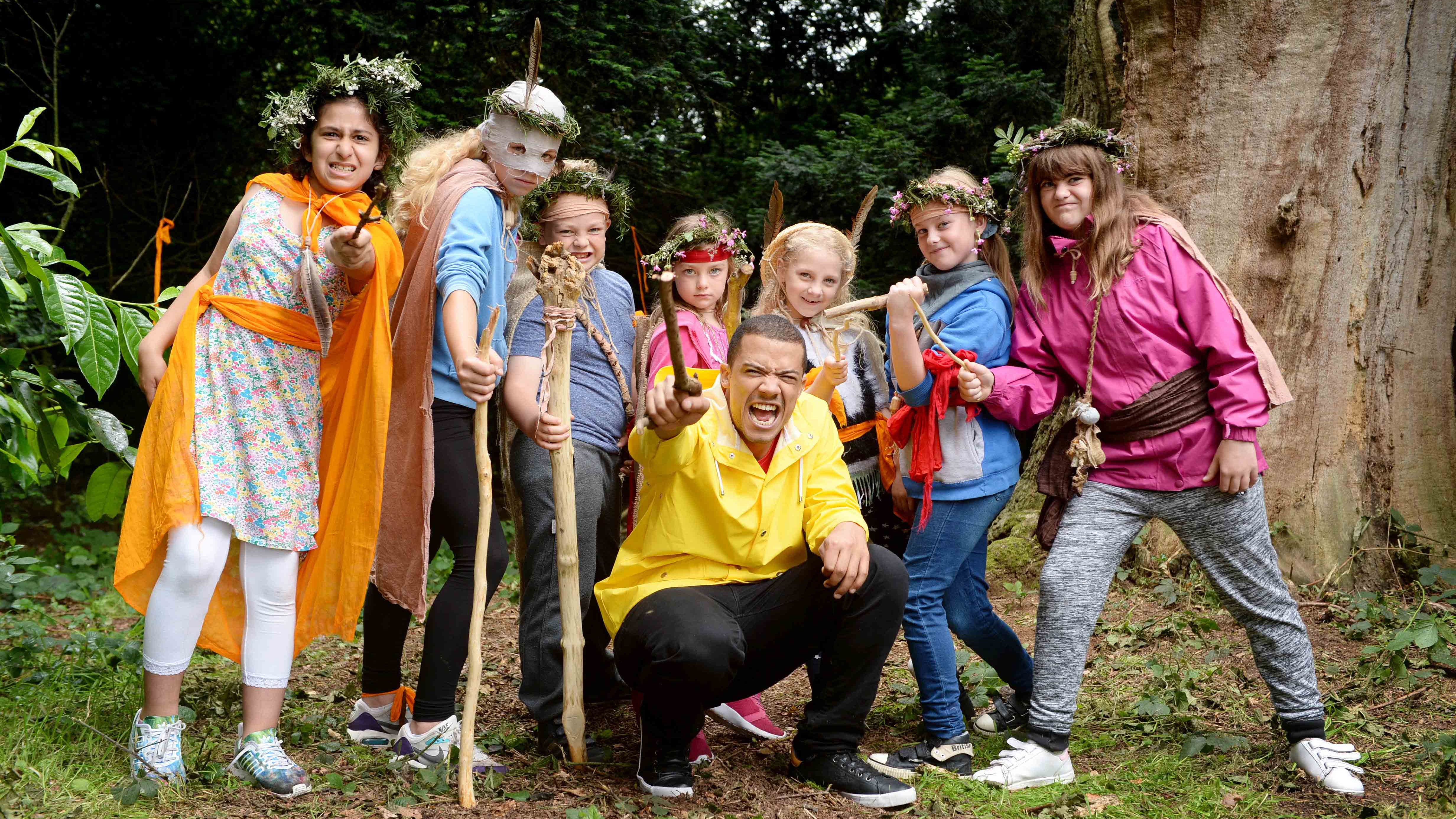 Raleigh Ritchie and a gang of young adventurers
