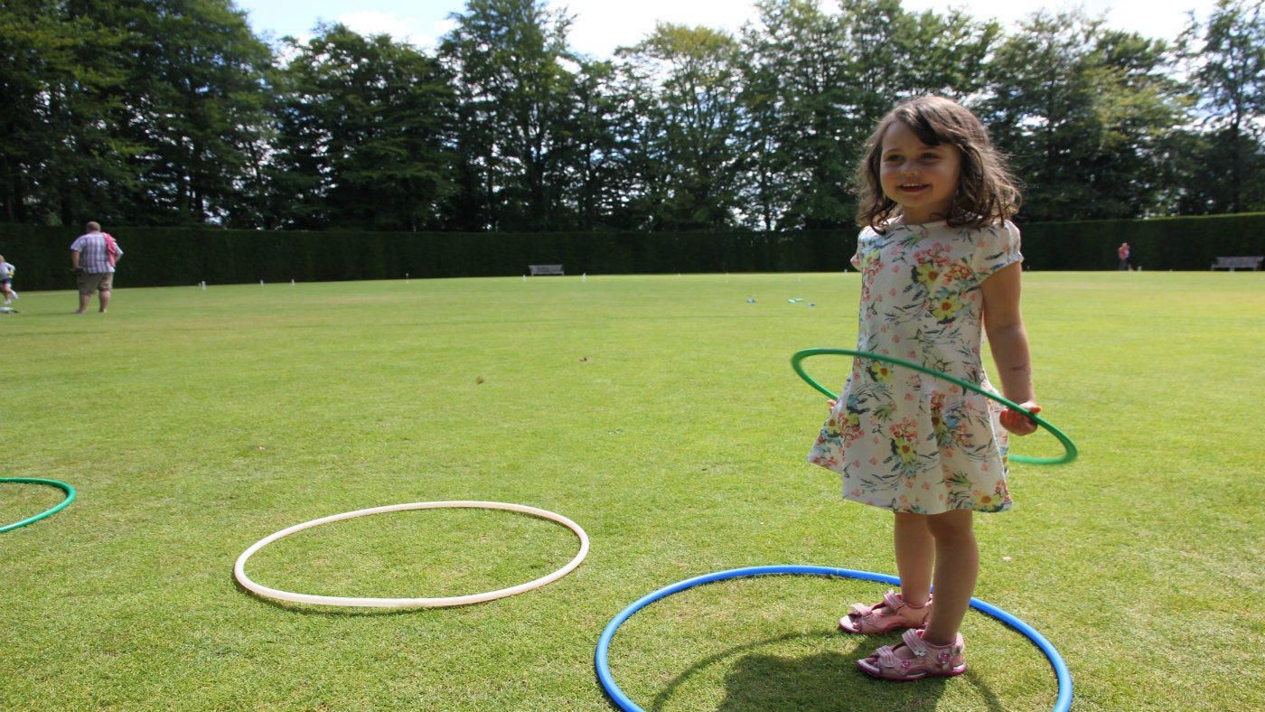Child hula hooping
