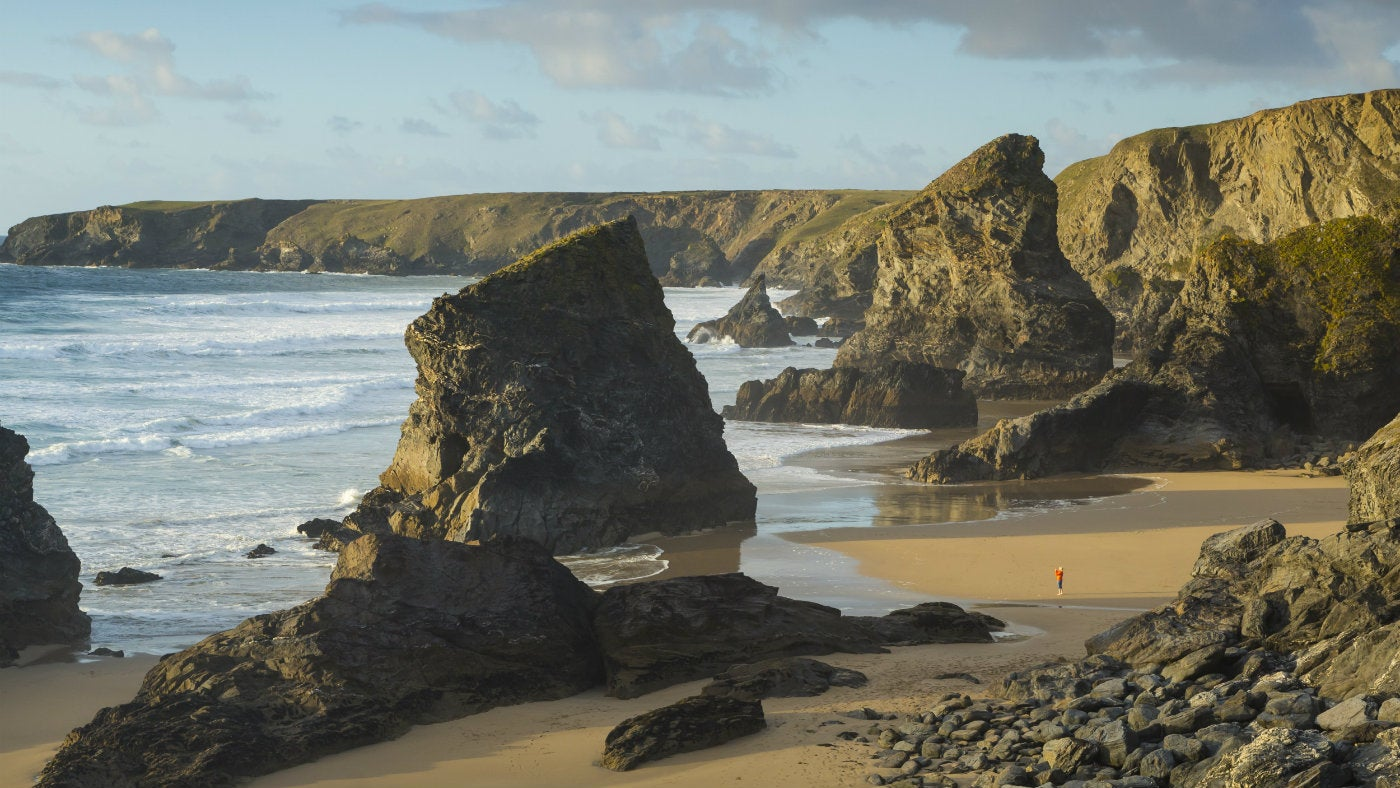 The view from the cliffs at Carnewas at Bedruthan