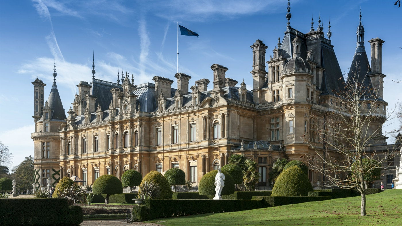 South Front of Waddesdon Manor during autumn