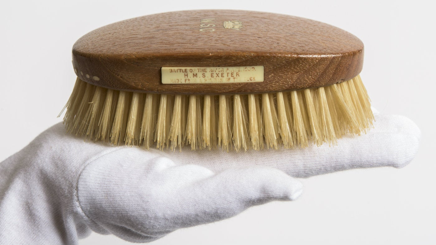 Churchill's hairbrush at Chartwell, a National Trust property in Kent