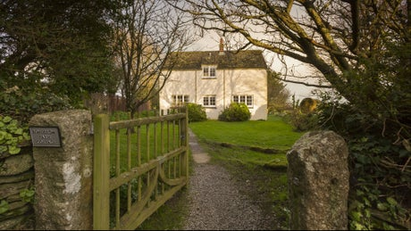The exterior at Bohurrow Farm Cottage, Roseland, Cornwall