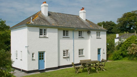 The exterior and garden at 2 Coleton Barton, Kingswear, Devon