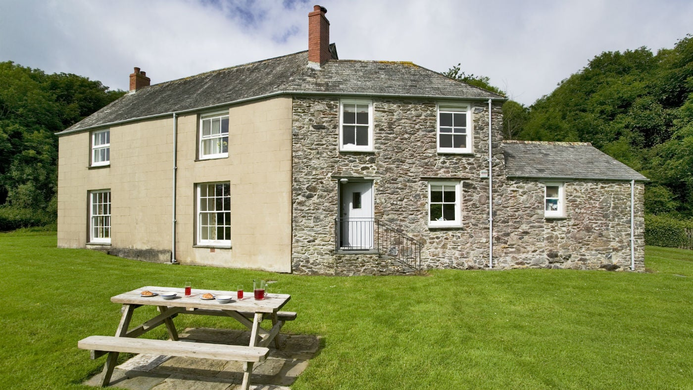 The exterior at Caragloose Farm House, Roseland, Cornwall
