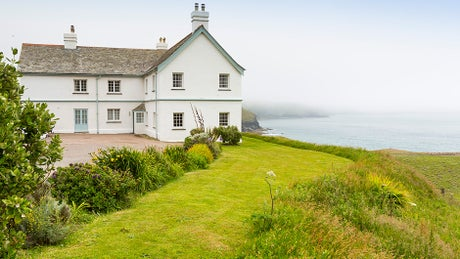 The exterior at Carnweather, Port Issac, Cornwall
