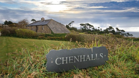 The exterior of Chenhalls Barn, Falmouth, Cornwall