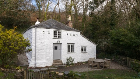 The exterior of Elm Cottage, Boscastle, Cornwall